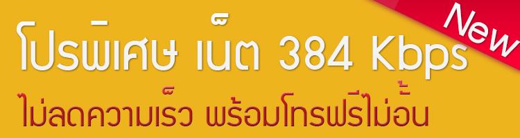 โปรพิเศษ ทรูมูฟ เอช เน็ต 384 Kbps ไม่ลดความเร็ว พร้อมโทรฟรีไม่อั้น