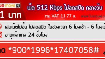 สมัครเน็ตทรู 11 บาท ความเร็วคงที่ 512 Kbps รายวัน (24 ชั่วโมง)
