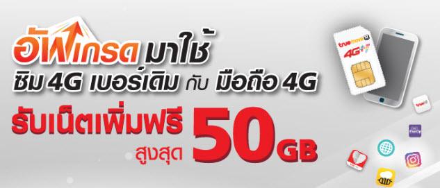 โปรเด็ดแจกเน็ตฟรี!!! สำหรับลูกค้าเติมเงิน เพียงเปลี่ยนมาใช้ซิม 4G วันนี้ รับเน็ตฟรีไปเลย