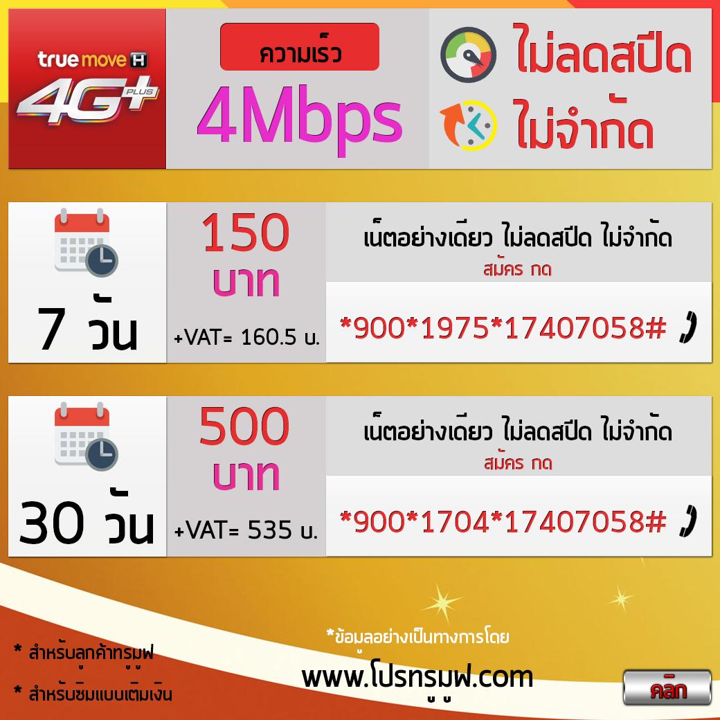 เน็ตทรู 4Mbps