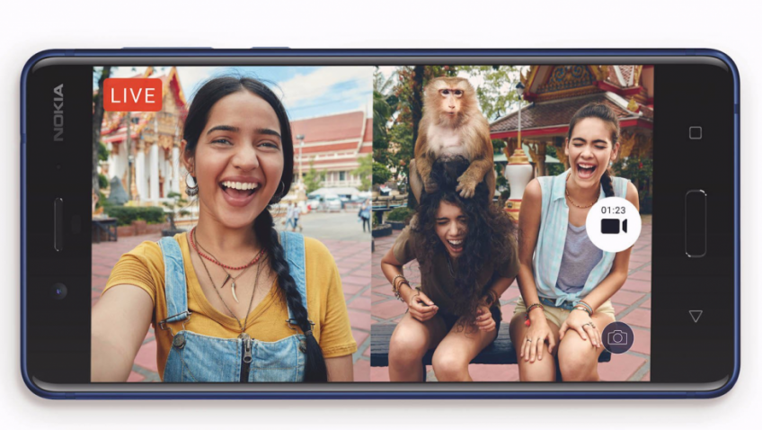 เป็นเจ้าของ Nokia 8 สมาร์ทโฟนถ่ายภาพหรือ live Facebook พร้อมกันได้ทั้งกล้องหน้าและหลัง ในราคาเพียง 15,500 บาท